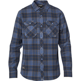 Fox Traildust 2.0 LS Flannel Top Men, navy/gold